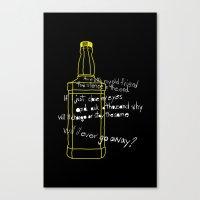 jack daniels Canvas Prints featuring Jack Daniels by Jaune Citrine