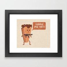 Pie Hard Framed Art Print