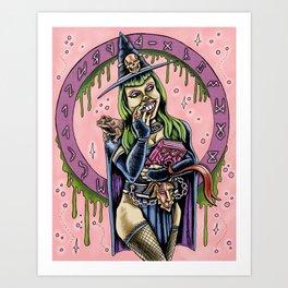 Wicked Pondering Art Print
