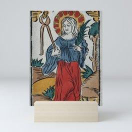 Saint Apollonia. Coloured lithograph. Mini Art Print
