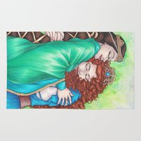 merida Area & Throw Rugs featuring Merida and Elinor by Kimberly Castello