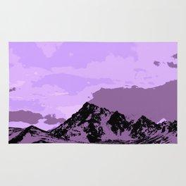 Chugach Mountains - EggPlant Pop Art Rug