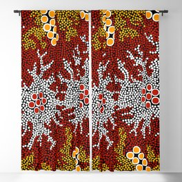 Authentic Aboriginal Art - Bushland Dreaming Blackout Curtain