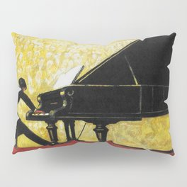 Vintage Piano Recital Illustration (1920) Pillow Sham