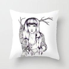 Tree Woman Throw Pillow