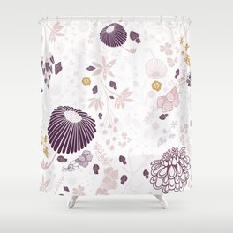 Field of Flowers on White Shower Curtain