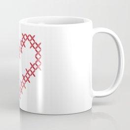 Cross stitch love heart Coffee Mug