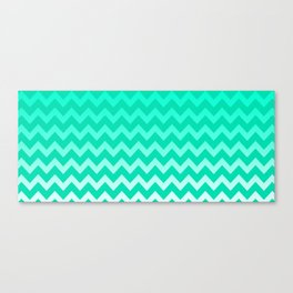 Teal Chevron Canvas Print