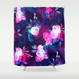 Dark Bloom Pattern by Heidi Appel Shower Curtain