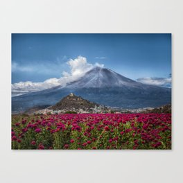 Popocatepetl Volcano Puebla Mexico Canvas Print