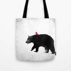Bear and Bird Art Tote Bag