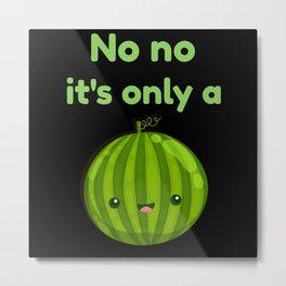 Pregnancy Baby Announcement Melon Metal Print