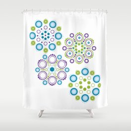 Mandala lotus flowers Shower Curtain