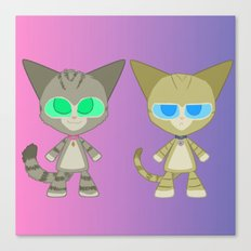 Cat Twins (Clara and Clarence Cat) Canvas Print