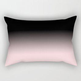 Modern abstract elegant black blush pink gradient pattern Rectangular Pillow