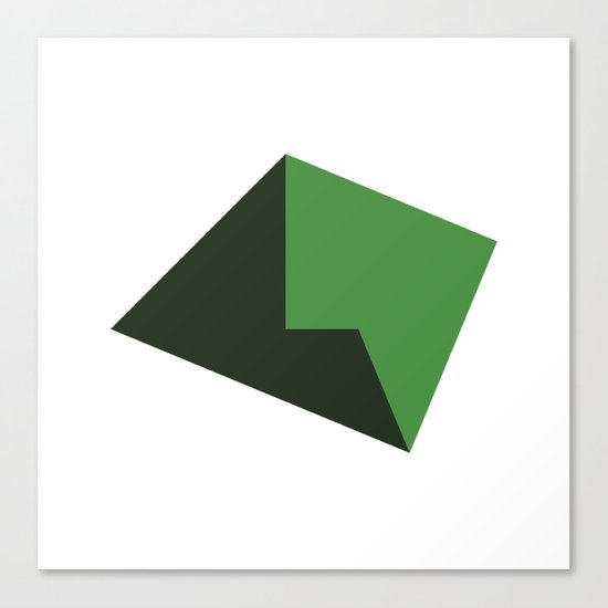 #119 Plains – Geometry Daily Canvas Print
