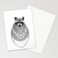 Raccoon- Feathered Stationery Cards