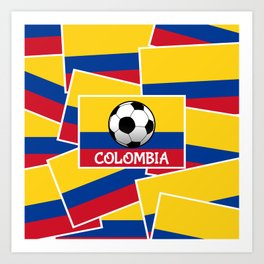 Colombia Football Art Print