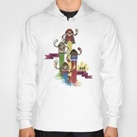 street fighter Hoodies featuring Street Fighter 25th Anniversary!!! by Ed Warner