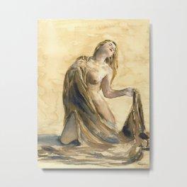 KargacinArt - Watercolor Painting - Nude Metal Print