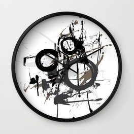 Enso Groove by Kathy Morton Stanion Wall Clock
