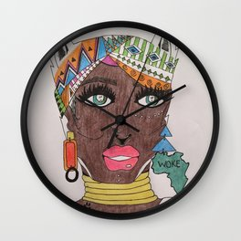 The Black Panther is Female Wall Clock