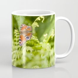 The red butterfly and the forest Coffee Mug