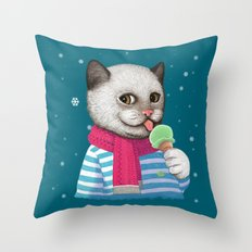 Ice cream & Snow Throw Pillow