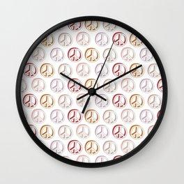 Pattern of Peace Wall Clock