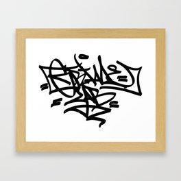 Grime Lab Graffiti Framed Art Print