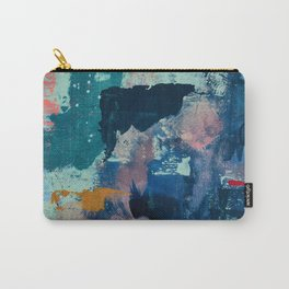 The Peace of Wild Things: a vibrant abstract piece in a variety of colors by Alyssa Hamilton Art Carry-All Pouch