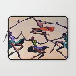 Classical African-American Masterpiece 'Ring Around the Rosie' by Ernie Barnes Laptop Sleeve