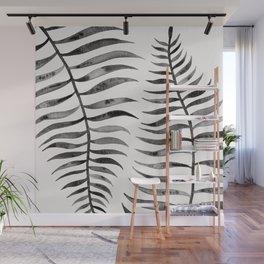 Black Palm Leaf Wall Mural