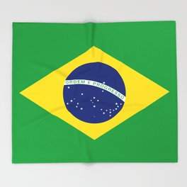 Flag of Brazil - Hi Quality Authentic version Throw Blanket