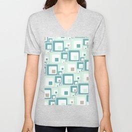 Retro Squares Mid Century Modern Background Unisex V-Neck