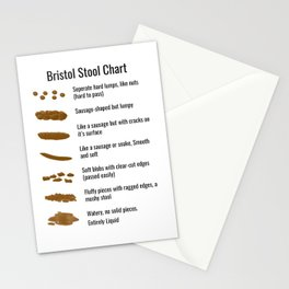 Bristol Stool Chart Stationery Cards