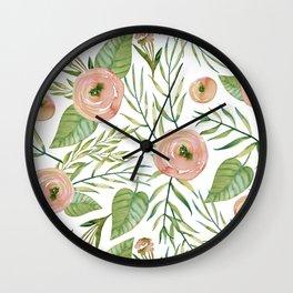 Country Rose Garden Wall Clock