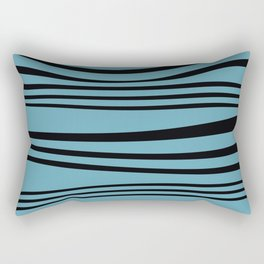 stripes wave Graphic turquoise Rectangular Pillow