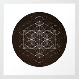 Metatrons Cube Is Out Of Space Art Print