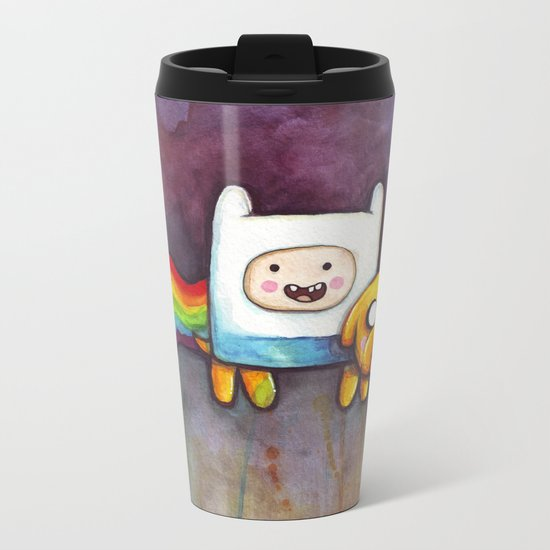 Nyan Time with Jake and Finn Metal Travel Mug