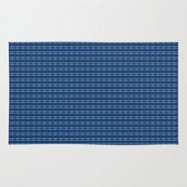 Navypeontpatterndesign Rug