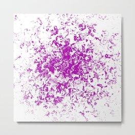 Organic Pink Moss Metal Print