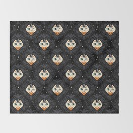 Witchy Kitty Throw Blanket