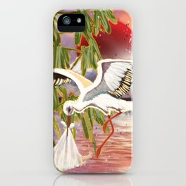Stork and Sun iPhone Case