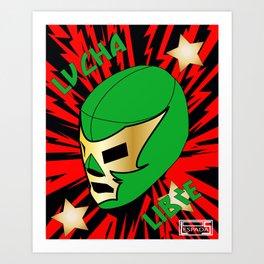 Mucha Lucha Art Print