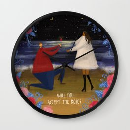 Will you accept the rose? Wall Clock