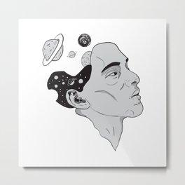 Space mind Metal Print
