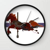 nori Wall Clocks featuring Nori by MarieJacquelyn