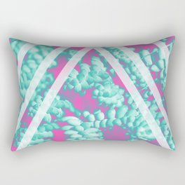 Pink Succulent Rectangular Pillow