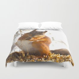 Mommy Squirrel  Duvet Cover